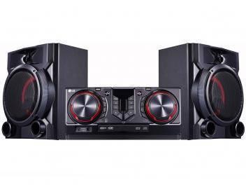 Mini System LG Bluetooth Dual USB MP3 CD Player - Rádio AM FM 810W Karaokê X Boom CJ65