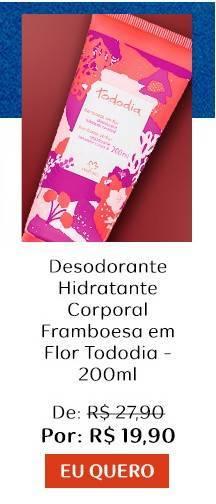 Natura desodorante hidratante corporal framboesa em flor tododia