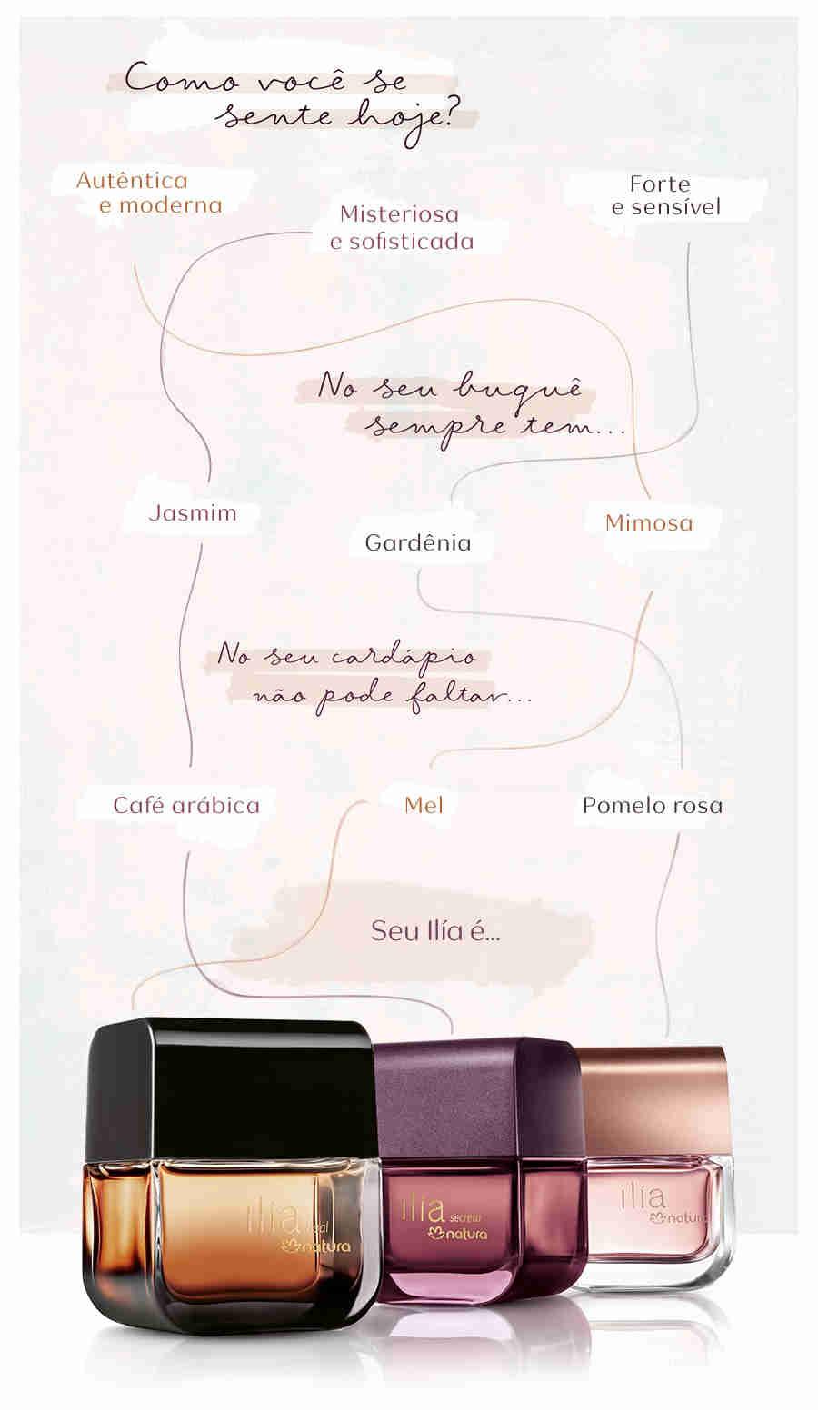 Natura - Baixou Tudo Família ilía: descubra a fragrância perfeita para sua ocasião especial Trilha