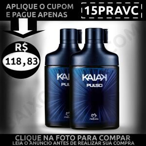 Kit Colônia Kaiak Pulso - Baixou Tudo Natura Cupom 15PRAVC 1200x1200