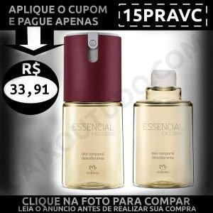 Kit Essencial Exclusivo Feminino Deo Corporal - Baixou Tudo Natura Cupom 15PRAVC 1200x1200
